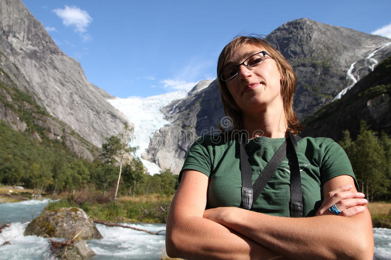 Touriste en Norvège images libres de droits