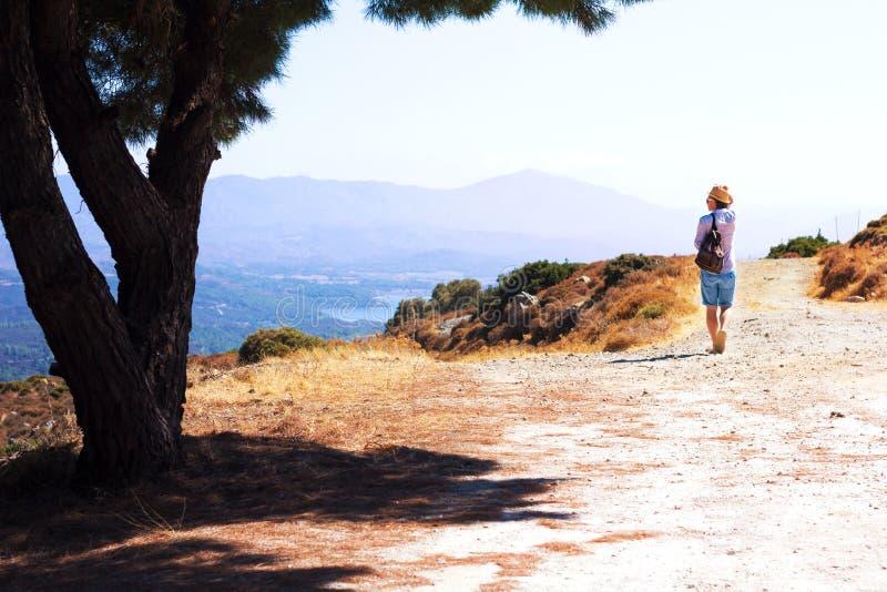 Touriste explorant le beau paysage image libre de droits