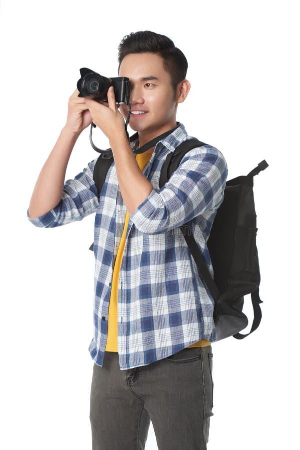 Touriste prenant des photos photo libre de droits