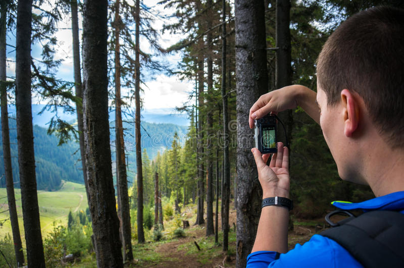 Touriste prenant des photos images libres de droits