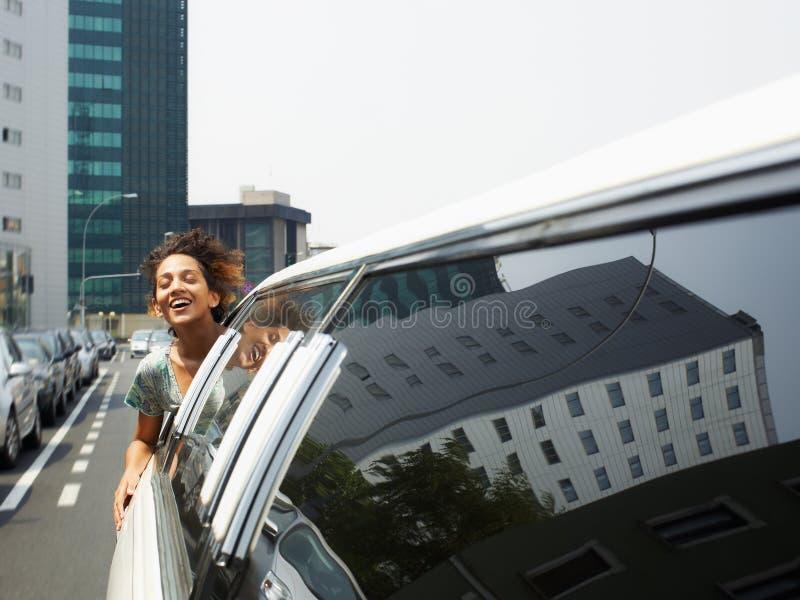 Touriste sur la limousine image stock