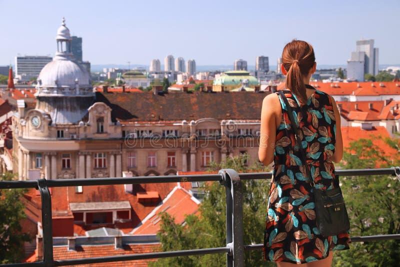 Touriste ? Zagreb photographie stock libre de droits
