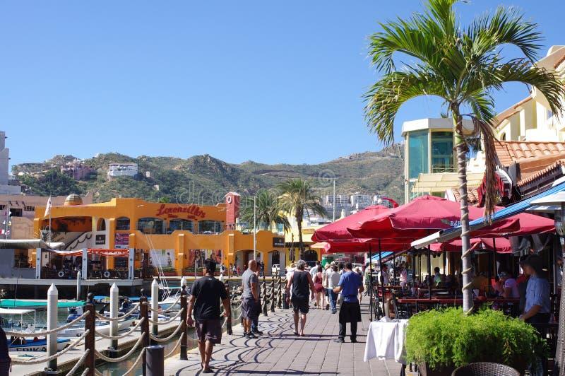 Touristen in Cabo San Lucas lizenzfreie stockbilder