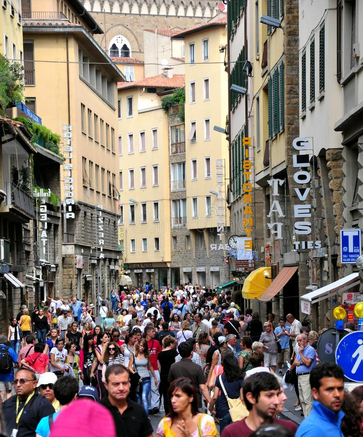 Touristen in Florenz, Italien stockfoto