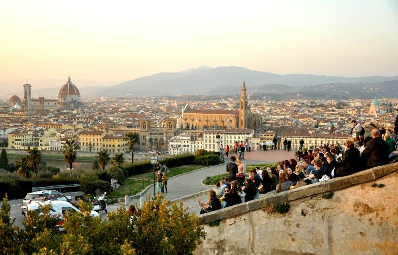Touristen in Florenz, Italien stockfotos