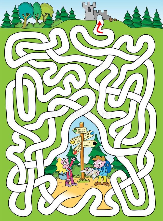 Touristen - Labyrinth einfach vektor abbildung