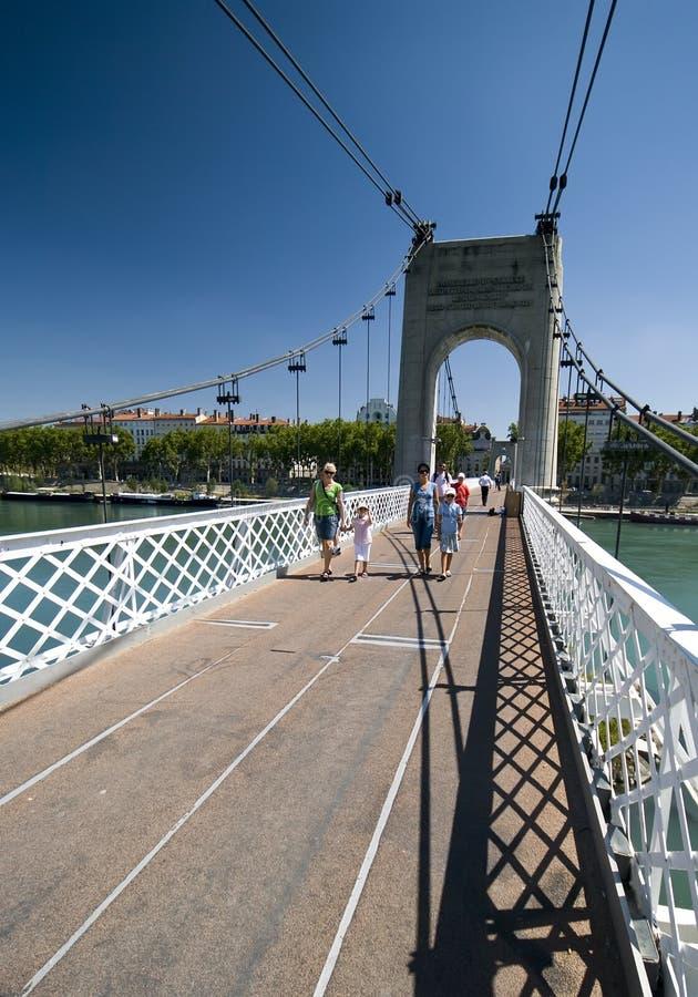 Touristen in Lyon lizenzfreies stockfoto