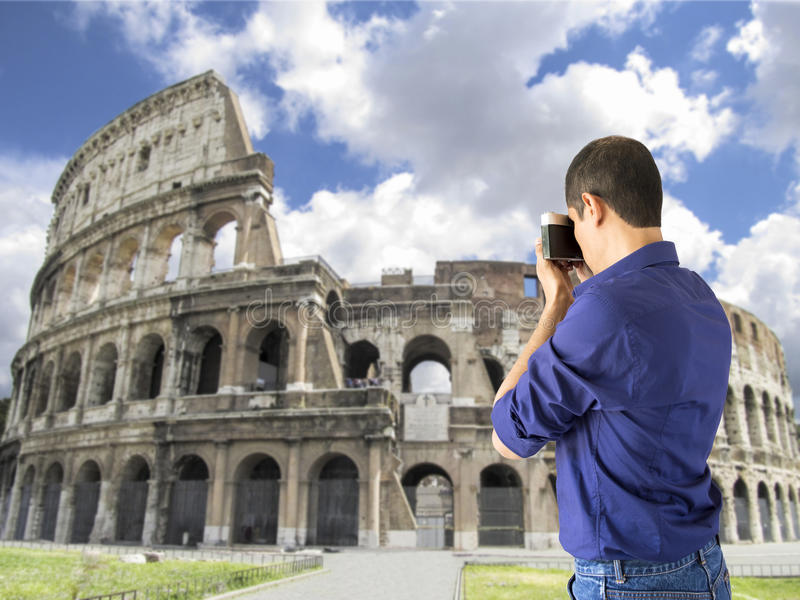 Touristen in Rom stockfotografie