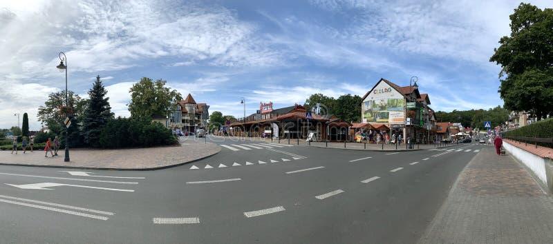 Touristenzentrum des Dorfes lizenzfreies stockbild