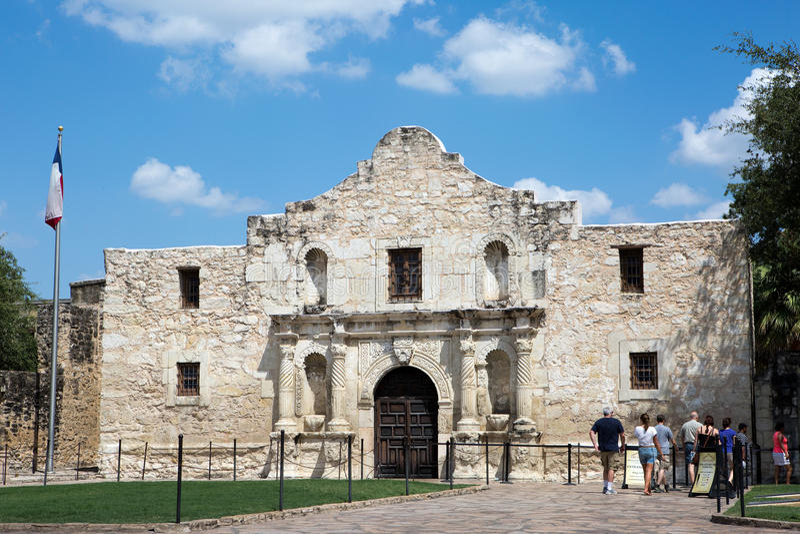 Touristes à Alamo le Texas image libre de droits