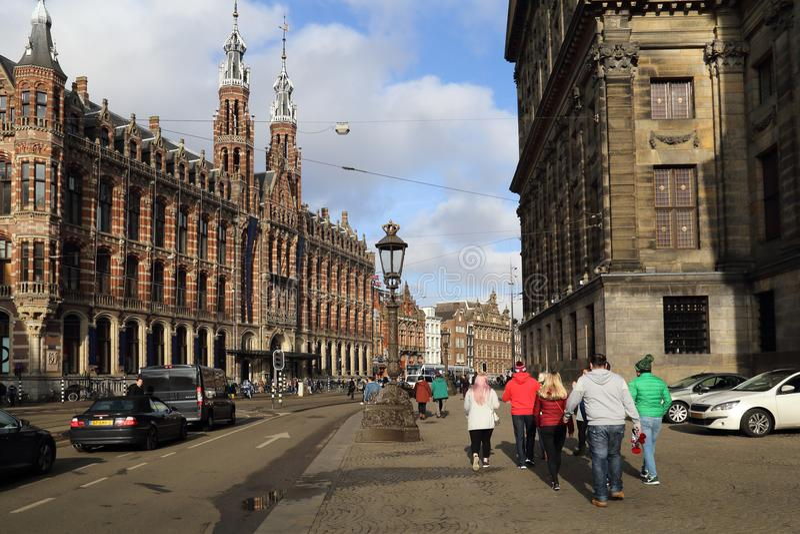 Touristes à Amsterdam, Hollande photo stock
