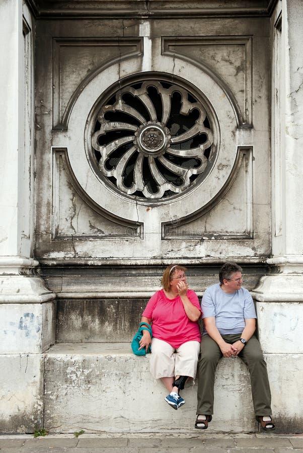 Touristes à Venise photographie stock