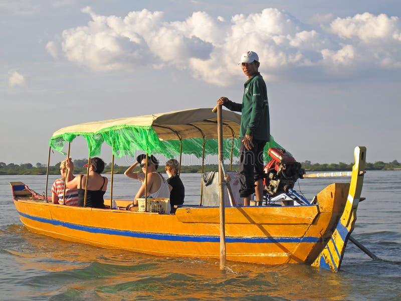 Touristes au Cambodge photos stock