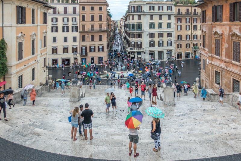 Touristes dans la place, Rome, Italie image stock