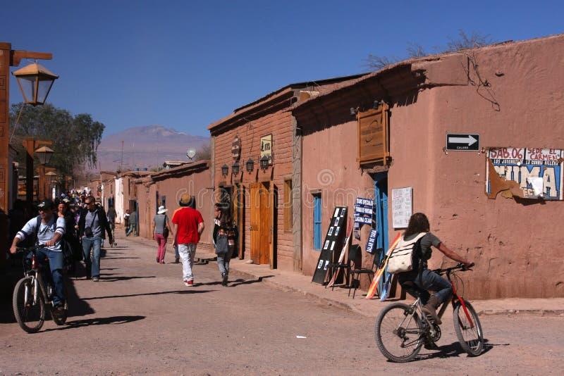 Touristes dans San Pedro photos stock