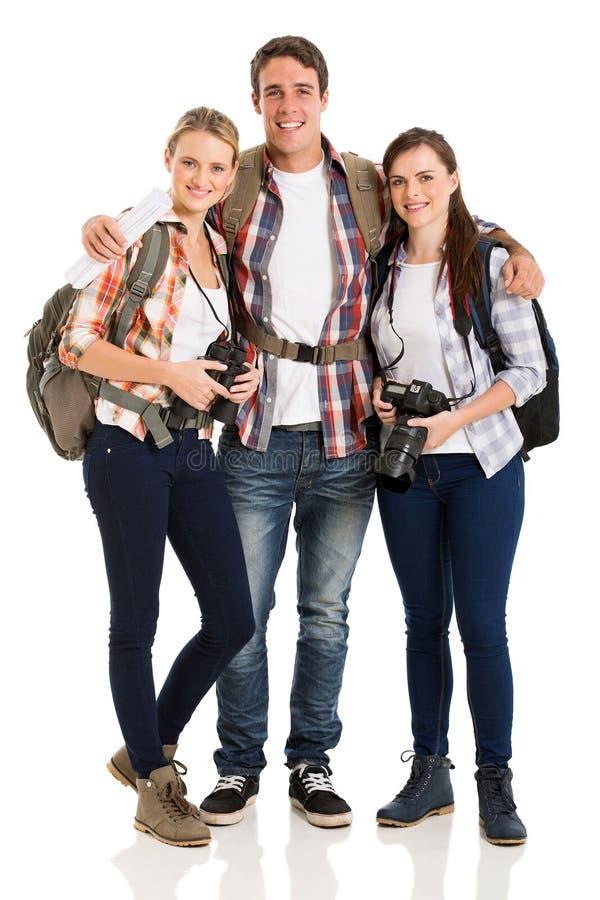 Touristes de groupe ensemble images libres de droits