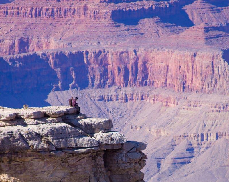 Touristes de l'Arizona de gorge grande image libre de droits