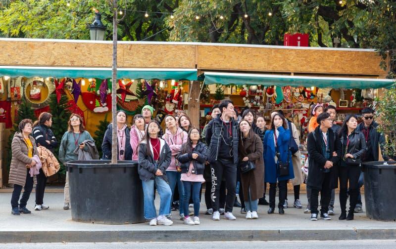 Touristes en tournées de groupe image libre de droits
