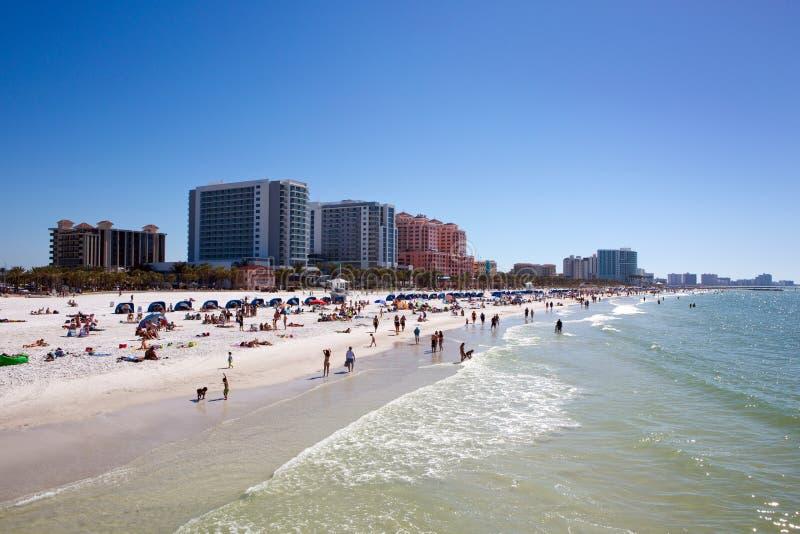 Touristes la Floride de plage de Clearwater images libres de droits