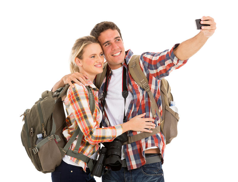 Touristes prenant le selfie photo stock
