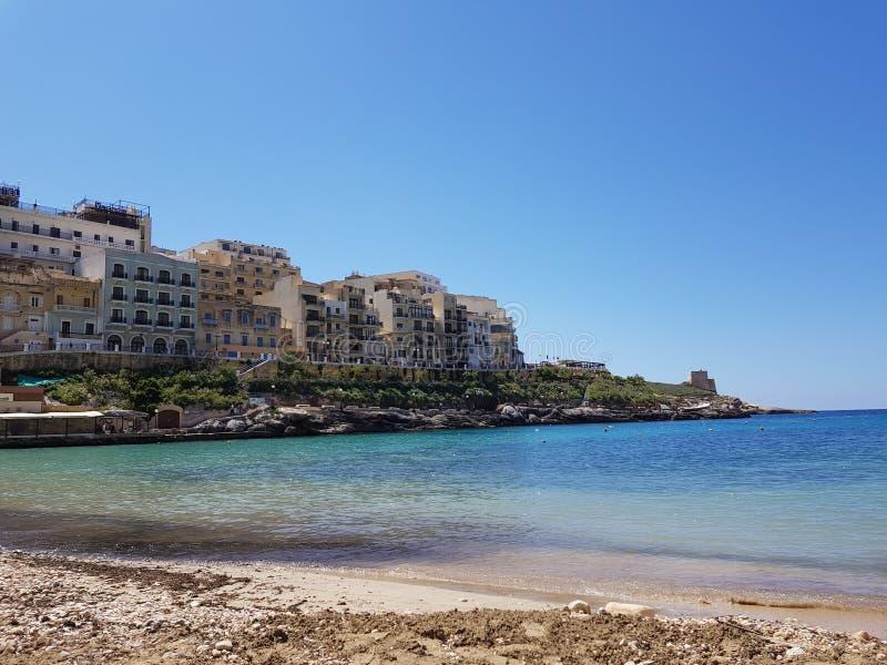 Touristic курорты в Мальте стоковая фотография rf