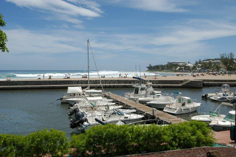 Touristic порт Святого Gilles на Ла Острове Реюньон, Франции стоковое фото rf