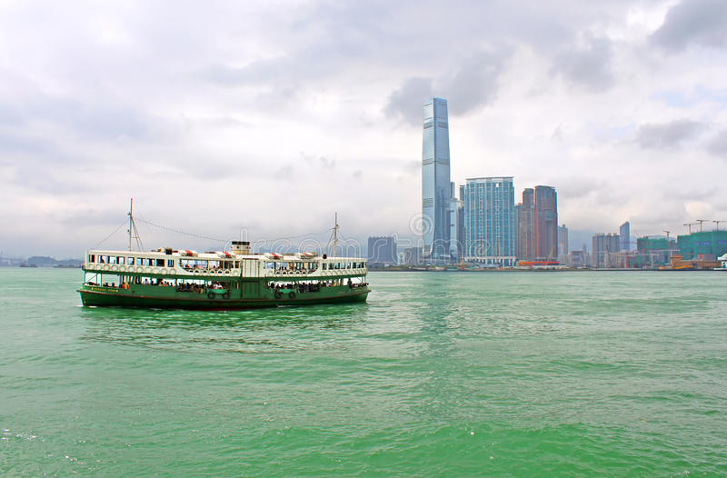 Touristic boat in Hong Kong royalty free stock photography