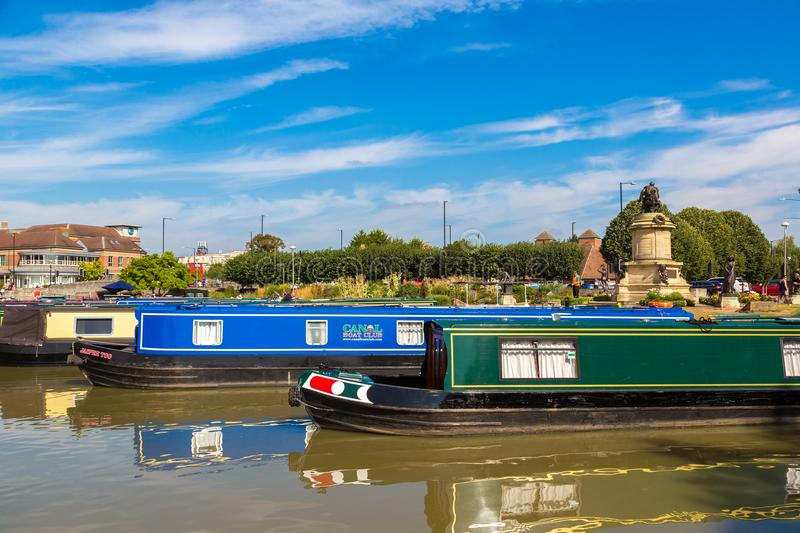 Touristic boats in Stratford upon Avon stock photos