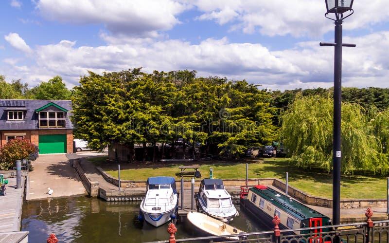 Touristic boats in Stratford upon Avon, England, United Kingdomon stock photo