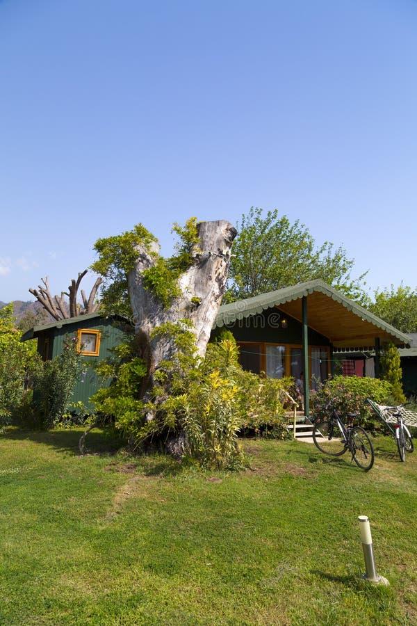 Touristic bongalow resort in Cirali, Antalya stock image