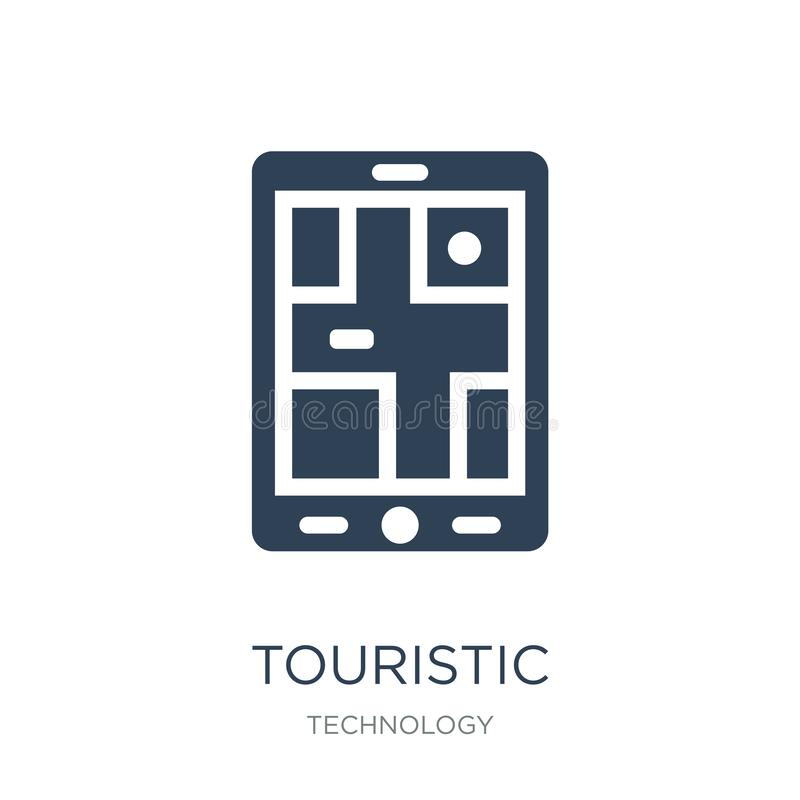 touristic icon in trendy design style. touristic icon isolated on white background. touristic vector icon simple and modern flat royalty free illustration