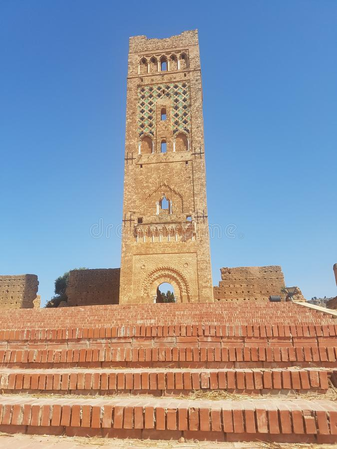 Touristic monument of the archaeological site & x22;Mansoura& x22; in the city of Tlemcen Algeria.  stock photo