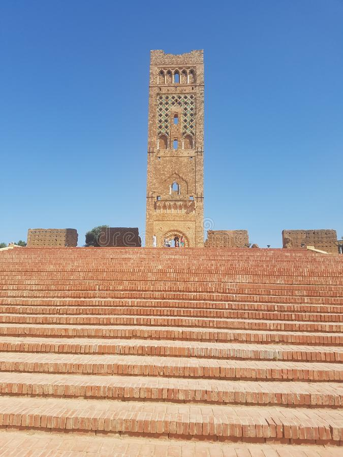 Touristic monument of the archaeological site & x22;Mansoura& x22; in the city of Tlemcen Algeria.  royalty free stock image
