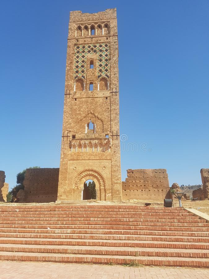 Touristic monument of the archaeological site & x22;Mansoura& x22; in the city of Tlemcen Algeria.  stock images