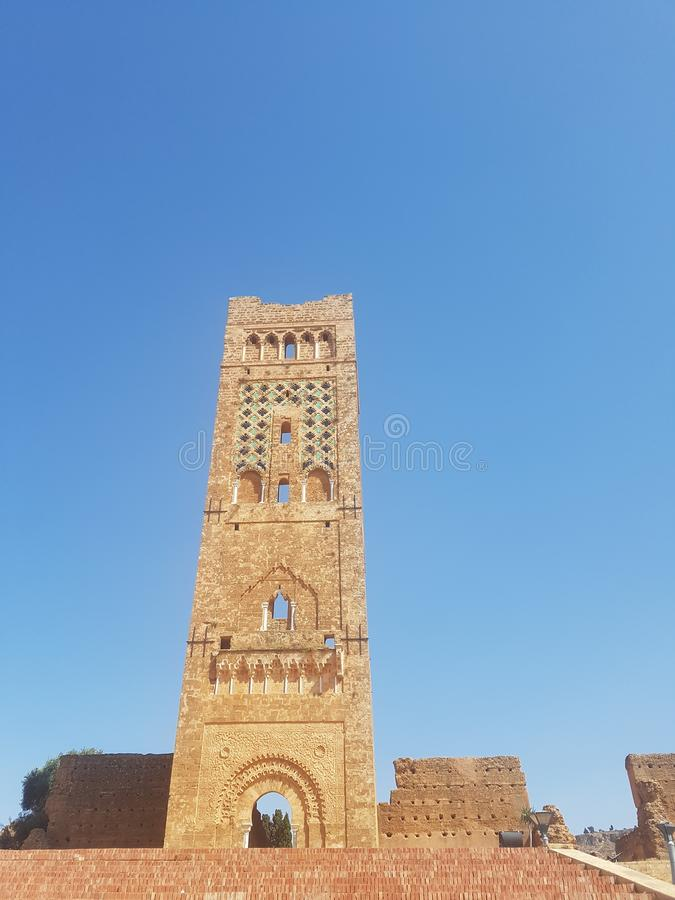 Touristic monument of the archaeological site & x22;Mansoura& x22; in the city of Tlemcen Algeria.  royalty free stock photo