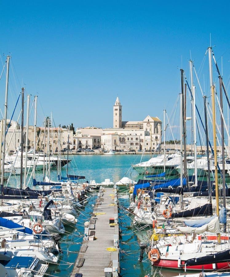 Touristic Port of Trani. Apulia. stock photos