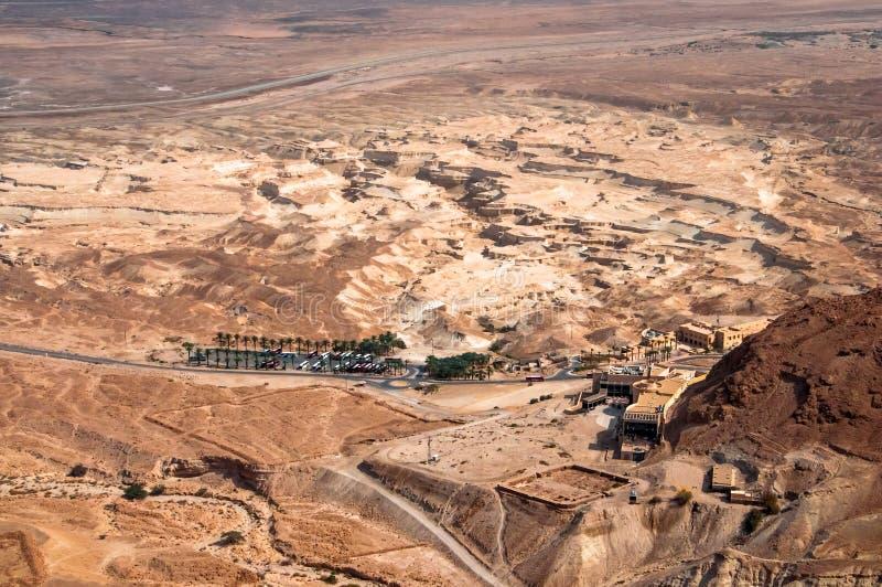Touristic resort in Judaean Desert royalty free stock image