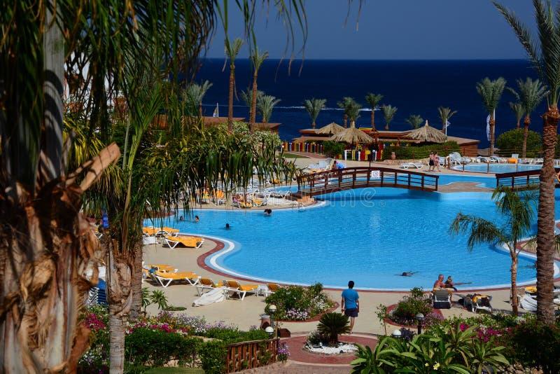 Touristic resort. Sharm El Sheikh. Red Sea. Egypt royalty free stock photography