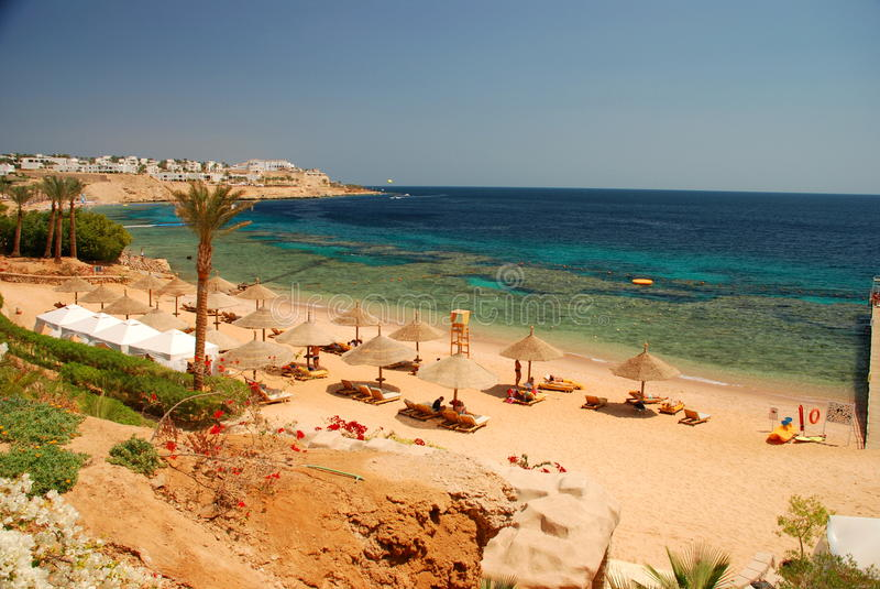 Touristic resort. Sharm El Sheikh. Red sea, Egypt stock photography