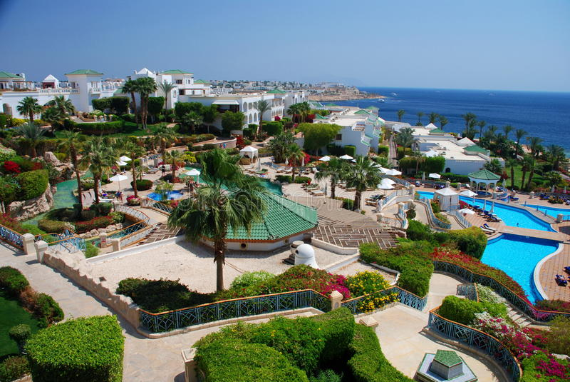 Touristic resort. Sharm El Sheikh. Red sea, Egypt royalty free stock photos