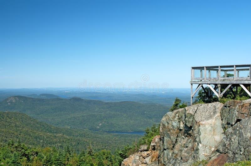 Touristic viewpoint on a mountain royalty free stock photos