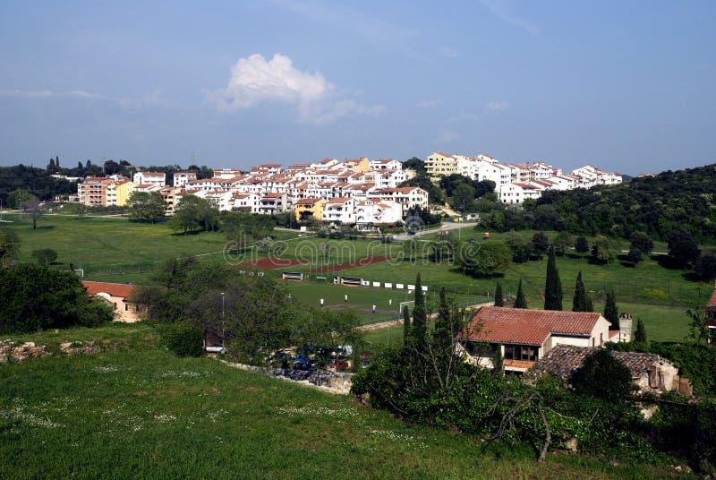 Touristic village near Vrsar in Istria,Croatia royalty free stock photo