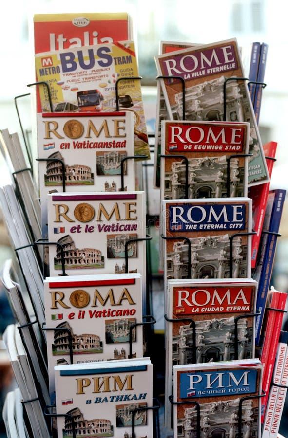 Touristische Anleitungen von Rom stockfotos