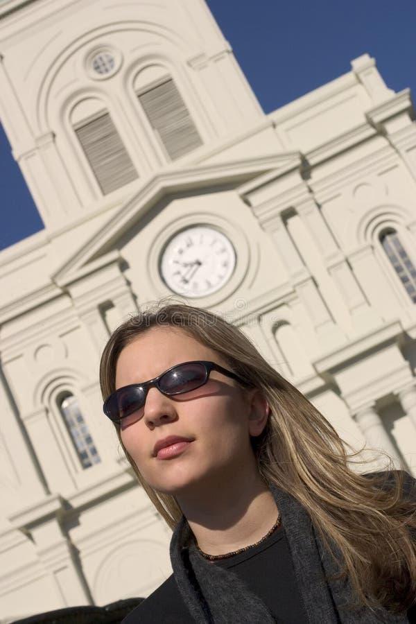 Touristische Frau Stockfoto