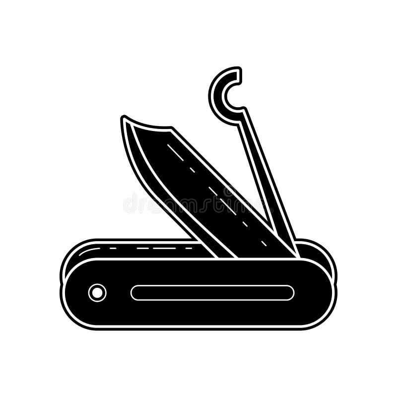 Touristische Messerikone E Glyph, flache Ikone f?r Websiteentwurf und Entwicklung, vektor abbildung