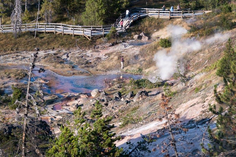 Touristische zerstörende empfindliche Landschaft stockfoto