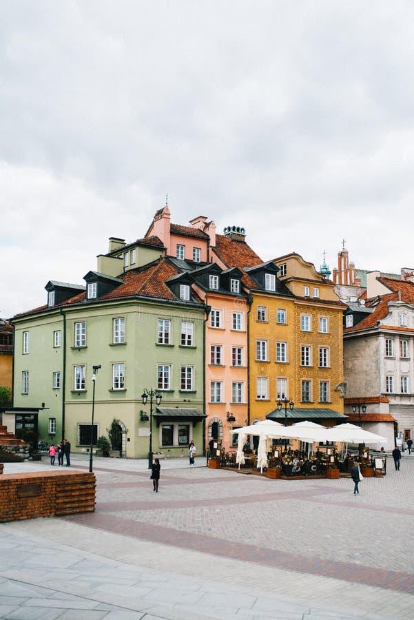 Touristischer Bereich der alten Stadt in Warschau lizenzfreies stockbild