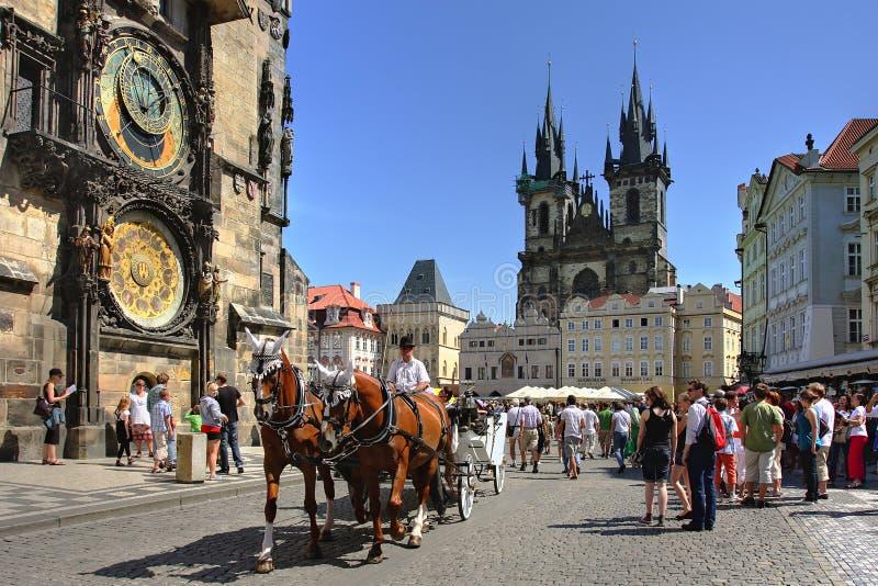 Touristischer Wagen in Prag, Tschechische Republik. stockfotografie
