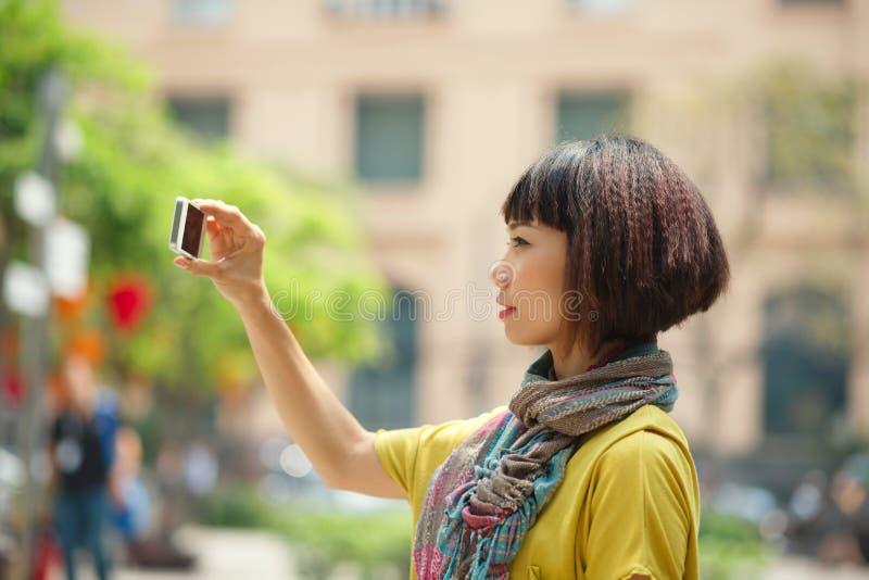 Touristisches nehmendes Foto lizenzfreie stockfotos