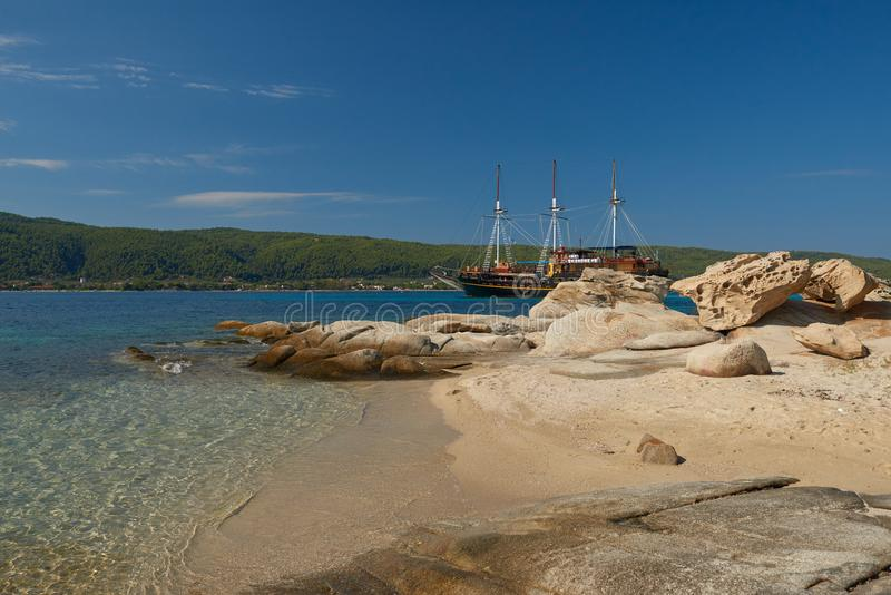 Touristisches Piratenschiff stockfotografie